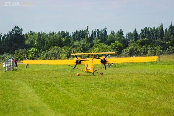 Авиаслет в Житомире, выставка, самолеты и вертолёты
