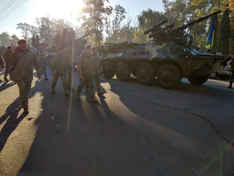 Военный парад в Житомире на День Защитника Украины