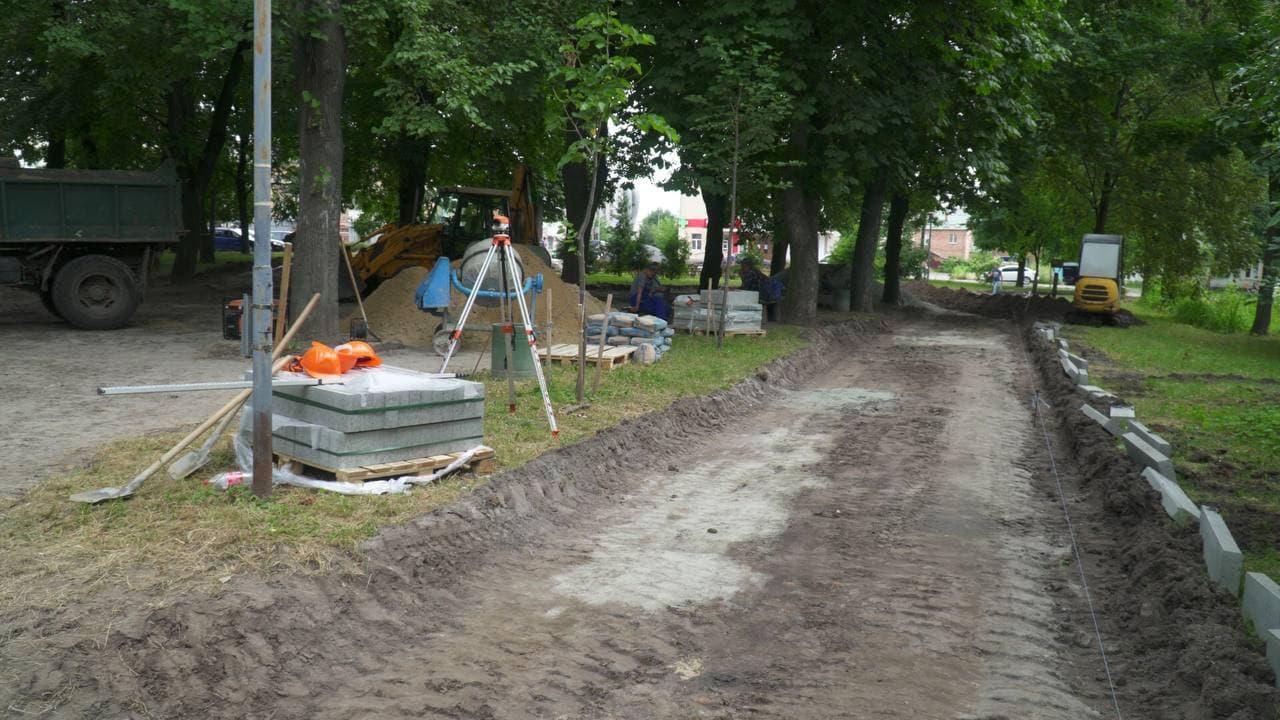Житомир. Ремонт скверу на майдані Путятинський
